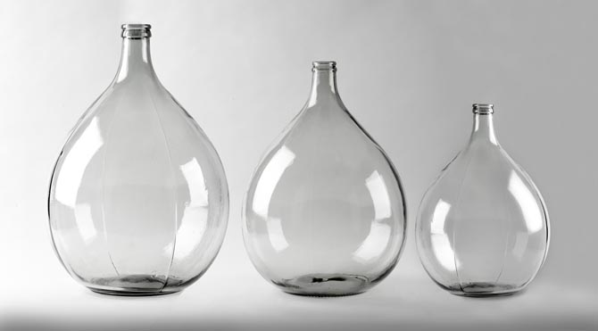 TMO lampshade bases in glass